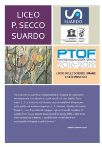 Frontespizio PTOF Suardo 2016-2019