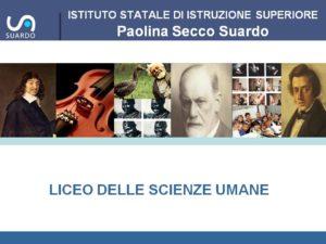 Presentazione Liceo delle Scienze Umane